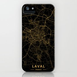 Laval, France - Gold iPhone Case