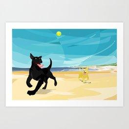 Fetch! Art Print