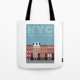 West Village NYC Travel Poster Tote Bag