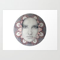 Masked mandala Art Print