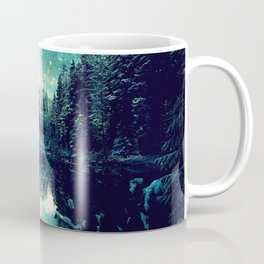 A Cold Winter's Night : Spearmint Teal Green Winter Wonderland Coffee Mug