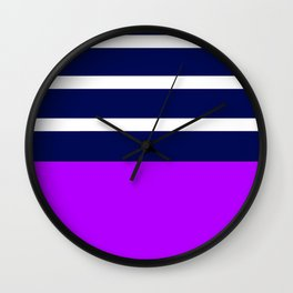 Summer Patio Perfect, Purple, White & Navy Wall Clock