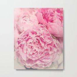 Pink Peony Photography Metal Print