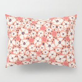 A Peony shower in coral Pillow Sham