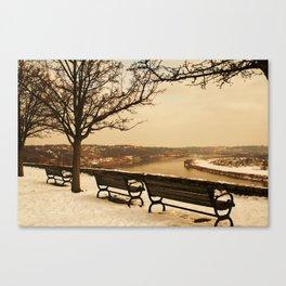 on the Cincinnati River Canvas Print