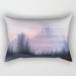 Abstract Watercolor Forest Rectangular Pillow