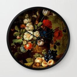 """Jan van Os """"Flowers"""" Wall Clock"""