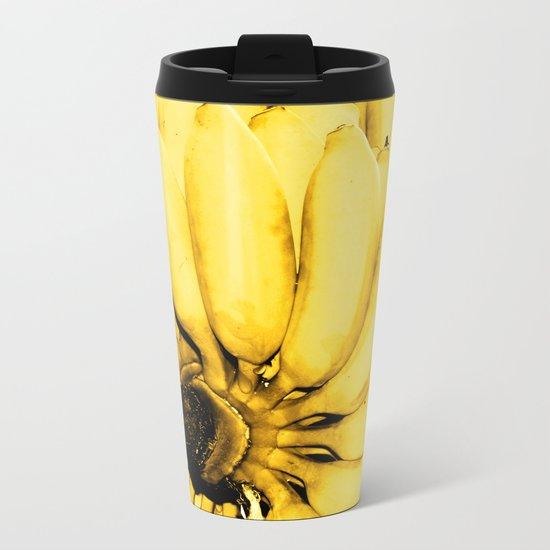 Yellow bananas Metal Travel Mug