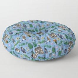 Literary Homes Floor Pillow