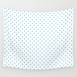 Domino sky blue dots pattern Wall Tapestry