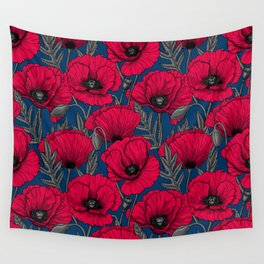 Night poppy garden  Wall Tapestry