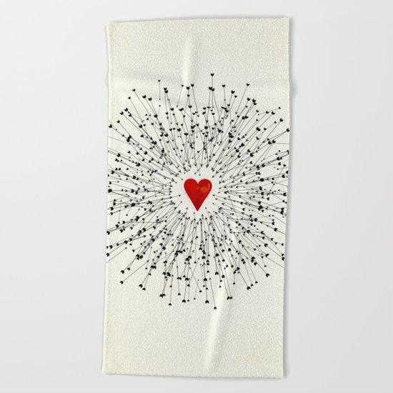 Heart&Arrows Beach Towel