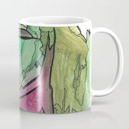 Earth and Sun Abstract Watercolor Fine Art Coffee Mug
