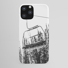 Empty Skilift // Black and White Snowboarding Dreaming of Winter iPhone Case