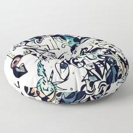 Abstract 5 Floor Pillow