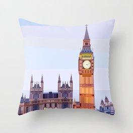 Geometric Big Ben, London, UK Throw Pillow
