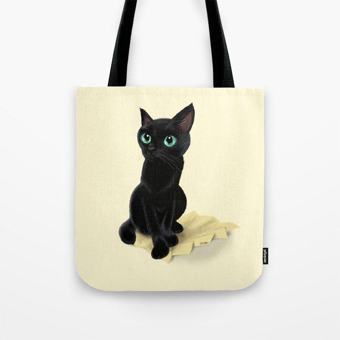Black little kitty Tote Bag