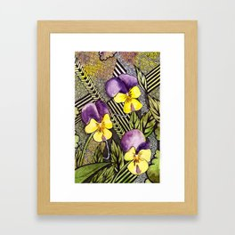 Pansies Framed Art Print