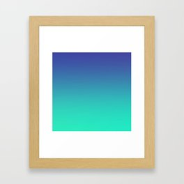 LUSH COVE - Minimal Plain Soft Mood Color Blend Prints Framed Art Print