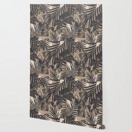 Tropical Jungle Leaves Pattern #2 #tropical #decor #art #society6 Wallpaper