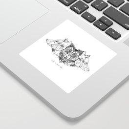 Learn To Speak Wolf Sticker