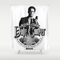 dale cooper Shower Curtains featuring Dale Cooper - Twin Peaks by KevinART