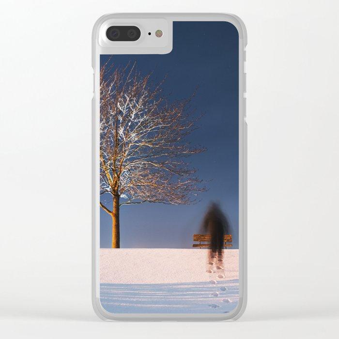 Frigid Solitude Clear iPhone Case