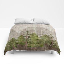 Mountain Range Woodland Forest Comforters