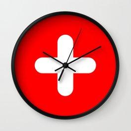 Swiss flag modern 3 Wall Clock