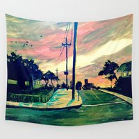 urban Wall Tapestries featuring Urban // Slowtown by Samantha Crepeau