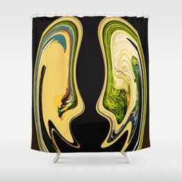 Two Comedians Shower Curtain