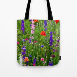Close-up Wildflowers Tote Bag