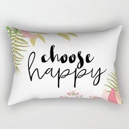 Choose Happy Rectangular Pillow