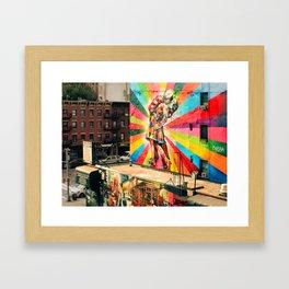 Kissing Sailor portuguese Framed Art Print