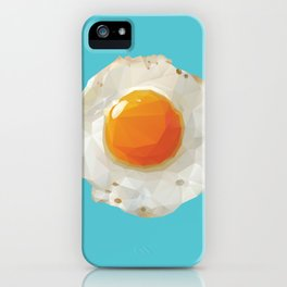 Fried Egg Polygon Art iPhone Case