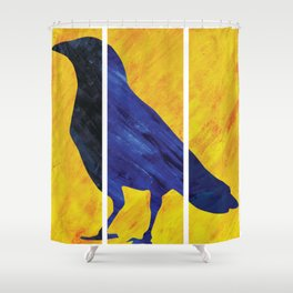 Color Crow Shower Curtain