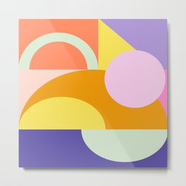 Shape and Color 55 Metal Print
