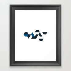 #532 Wharf – Geometry Daily Framed Art Print