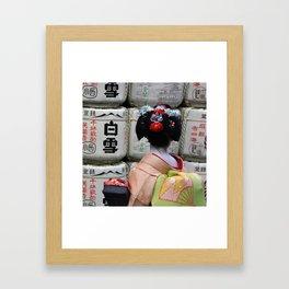 Geisha Maiko III Framed Art Print