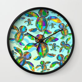 Baby Sea Turtle Fabric Toy Wall Clock