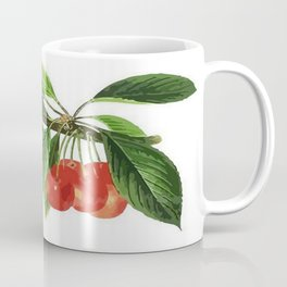 Red Cherries Vector on White Background Coffee Mug