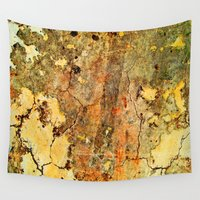 cracked Wall Tapestries featuring Cracked Wall by Robin Curtiss