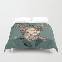 will graham Duvet Covers featuring I Believe You by Huebucket