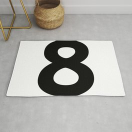 Number 8 (Black & White) Rug