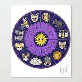 Zodiacat Canvas Print