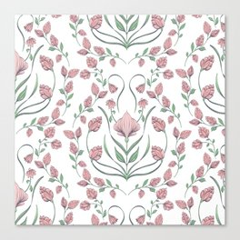 Pink Bulbs Canvas Print