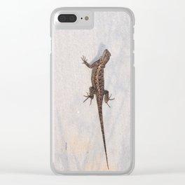 Heat-Loving Lizard Clear iPhone Case