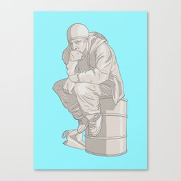 Thinkin Pinkman Canvas Print