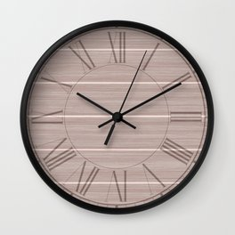 Pale Pink Dogwood Weathered Whitewash Wooden Beach House Wall Clock