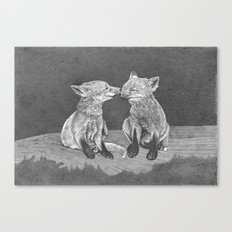 Kissing Cubs Canvas Print